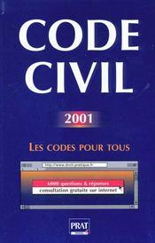Code Civil 2001 - Intérieur - Format classique