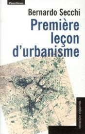 Première leçon d'urbanisme - Couverture - Format classique