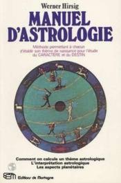 Manuel D'Astrologie - Couverture - Format classique