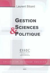 Gestion, sciences et politiques - Intérieur - Format classique