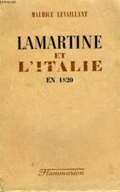 Lamartine Et L'Italie En 1820. - Couverture - Format classique
