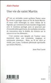 Une vie de saint Martin - 4ème de couverture - Format classique