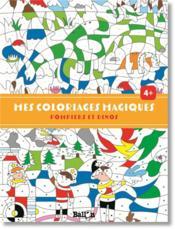 Mes coloriages magiques ; pompiers et dinos - Couverture - Format classique