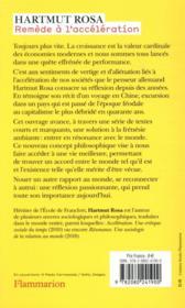 Remède à l'accélération ; impressions d'un voyage en Chine et autres textes sur la résonance - 4ème de couverture - Format classique