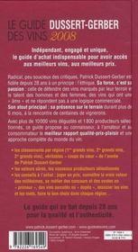 Le guide Dussert-Gerber des vins de France (édition 2008) - 4ème de couverture - Format classique
