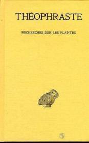 Recherches sur les plantes t.1 ; livre 1-2 - Couverture - Format classique
