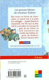 Les Grosses Betises De Monsieur Dubois - 4ème de couverture - Format classique