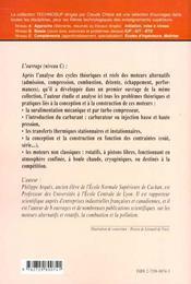 Genie Energetique Conception Et Construction Des Moteurs Alternatifs De La Theorie A La Competition - 4ème de couverture - Format classique