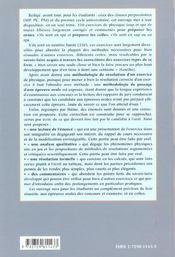 Reussir En Beaute Son Oral De Physique 250 Exercices Commentes Et Corriges Pour Les Oraux Prepas Sup - 4ème de couverture - Format classique