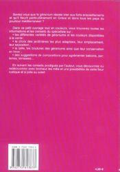 Geraniums - 4ème de couverture - Format classique
