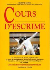 Cours D'Escrime - Intérieur - Format classique
