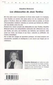 Les Didascalies De Jean Tardieu - 4ème de couverture - Format classique