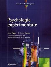 Psychologie expérimentale - Intérieur - Format classique