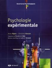 Psychologie expérimentale - Couverture - Format classique