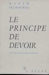 Le Principe De Devoir - Couverture - Format classique
