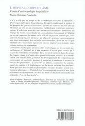 L'hôpital corps et âmes ; explorations ethnographiques - 4ème de couverture - Format classique
