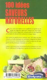 100 Idees ; Saveurs Naturelles - 4ème de couverture - Format classique