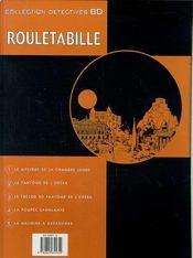 Rouletabille t.5 ; la machine à assassiner - 4ème de couverture - Format classique