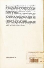 Honoree par un petit monument [festival international de lyon, theatre des celestins, juin 1979] - 4ème de couverture - Format classique