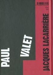 Paul Valet ; soleil d'insoumission - 4ème de couverture - Format classique