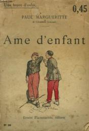 Ame D'Enfant. Collection : Une Heure D'Oubli N° 25 - Couverture - Format classique