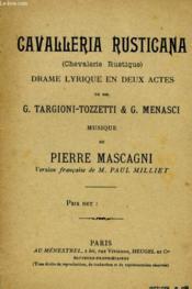 Cavalleria Rusticana - Couverture - Format classique
