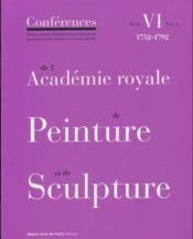 Conférences de l'Académie royale de peinture et de sculpture t.6 ; volumen 1 - Couverture - Format classique
