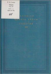 Theatre (tome 3) - Couverture - Format classique
