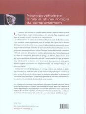 Neuropsychologie clinique et neurologie du comportement - 4ème de couverture - Format classique