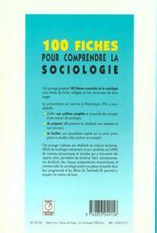 100 Fiches Pour Comprendre La Sociologie - 4ème de couverture - Format classique