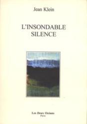 Insondable silence (l') - Couverture - Format classique