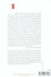 La Part De L'Ombre - 4ème de couverture - Format classique