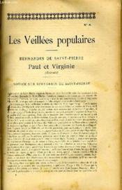 Les Veilleees Populaires N°8 - Bernardin De Saint-Piette, Paul Et Virginie (Extraits) - Couverture - Format classique