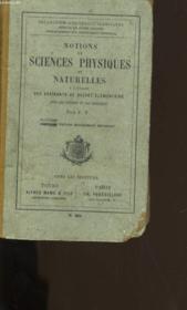 Notions Sur Les Sciences Physiques Et Naturelles. - Couverture - Format classique