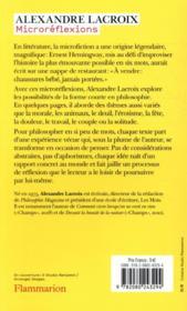 Microréflexions ; 70 invitations à philosopher - 4ème de couverture - Format classique