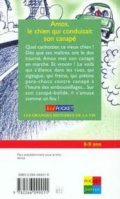 Amos Le Chien Conduisait Sur Canape - 4ème de couverture - Format classique