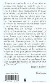 Passeurs de vies ; rencontre avec Marie de Solemne - 4ème de couverture - Format classique
