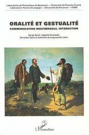 Oralité et gestualité ; communication multimodale, interaction - Intérieur - Format classique