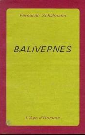 Balivernes - Couverture - Format classique