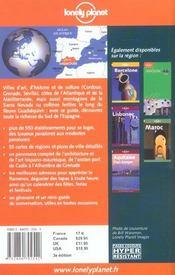Andalousie - 4ème de couverture - Format classique