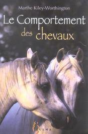 Le comportement des chevaux - Intérieur - Format classique