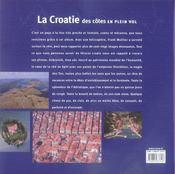 La croatie ; des côtes en plein vol - 4ème de couverture - Format classique