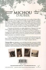 Michou d'Auber - 4ème de couverture - Format classique