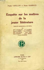 Enquete Sur Les Maitres De La Jeune Litterature, Suivie De Lettres Et De Commentaires - Couverture - Format classique
