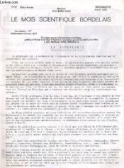 LE MOIS SCIENTIFIQUE BORDELAIS N°87 - 10ème année - LA GENEALOGIE de R. BLANC - LA CERAMIQUE DES ORIGINES AU DEBUT DE NOTRE ERE... - Couverture - Format classique