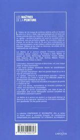 Les Maitres De La Peinture - 4ème de couverture - Format classique