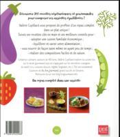 Mes assiettes végétariennes équilibrées - 4ème de couverture - Format classique