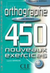 Orthographe 450 debutant - Couverture - Format classique