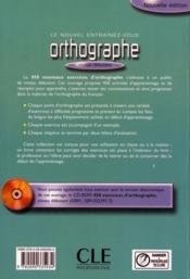 Orthographe 450 debutant - 4ème de couverture - Format classique