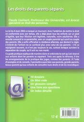 Les droits des parents séparés (2e édition) - 4ème de couverture - Format classique